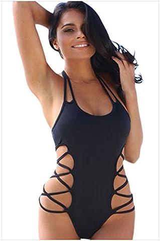 YLSZ-un seul morceau halter cou sans manches en acier d'une pièce halter soutien - gorge triangle,black,l