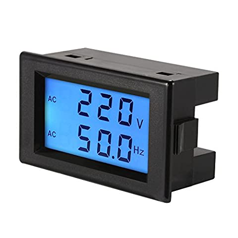 XCSOURCE Voltmètre AC80-300V Moniteur de fréquence 45.0-65.0Hz Double Affichage Numérique LCD Panneau Testeur Moniteur MA1225