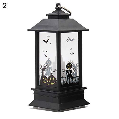 een Kerzeneffekt Licht, dekorative LED Lampe Schloss Kürbis Friedhof Spooky Bar Party Light 2# ()