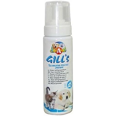 Gill's Schiuma pulisci zampe - Per cane o gatto, deterge le zampe senza ricorrere al bagno completo