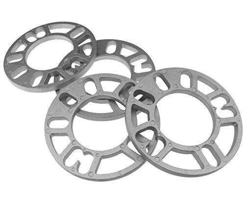 4x 10mm distanziali ruota spessori piastra in lega di alluminio 4e 5perno per Autocar universale