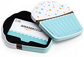 Amazon.co.uk Gift Card - In a Gift Tin - £20 (Cupcake)