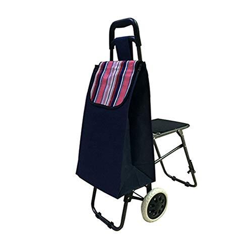 DLYZM Einkaufstrolley Einkaufsroller Einkaufswagen Shopper Tasche Wasserabweisend Klappbar Großzügiger Stauraum Ideal für Jung & Alt(92 * 35 * 57cm) - Kunststoff-stuhl Moderner
