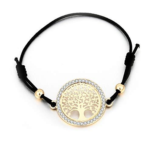 Romote 1 Stück modernen einfache Armband Mode-Mädchen-Baum des Lebens Armband-Charme Ferien Woven Hand Seil Verstellbare Stretch-Armband Modeschmuck - Stretch-wochenende