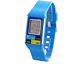 Casio LDF-50 Women's Blue Poptone Chronograph Alarm LCD Digital Watch