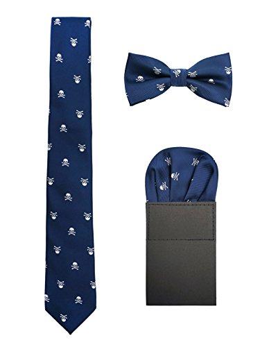 Hombre 6cm Corbata & Pajaritas & Pañuelo de Bolsillo 3 en 1 Set...