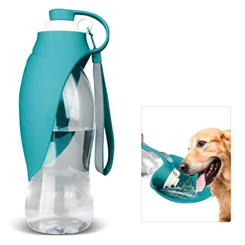 Hundetrink flasche zum Spazierengehen, Wasserspender für Haustiere, Tragbar, mit Trinkbecher, für Outdoor-Wandern, Reisen für Welpen, Katzen, Hamster, Kaninchen und Andere Kleine Tiere, 570 ml -