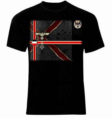 Deutsches Reich Kreuz Wehrmacht Männer Printed T-Shirt (XL)