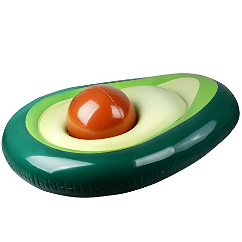 zhengenevolent Water Inflatable Avocado Floating Row Floating Bed, Inflatable Environmental Floating Island Floating Bed/Sofá Pool/Ocean/Lake Inflatable Floating Toys Adult and Children