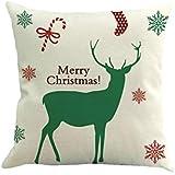 TENDYCOCO Christmas Theme Throw Pillow Cover Decorative Linen Pillow Case Pillowslip For Home Sofa Bedroom