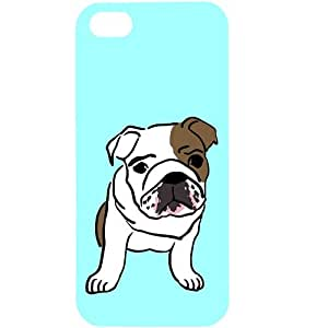 Casotec Bulldog Baby Design Hard Back Case Cover for Apple iPhone 5 / 5S