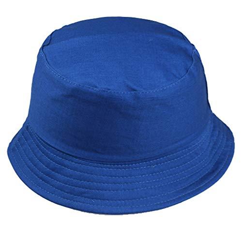 Sonnenhüte für Frauen Strandhüte Dome Cowboy Hochzeitshut UV-Schutz Einstellbare Sommer Faltbare Organza Big Basin Hat (Blau)