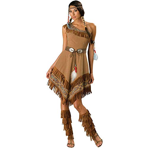 LBFKJ Halloween Cosplay Kostüm, Indisches Kostüm, Primitive Native Savage Princess Dress, ()
