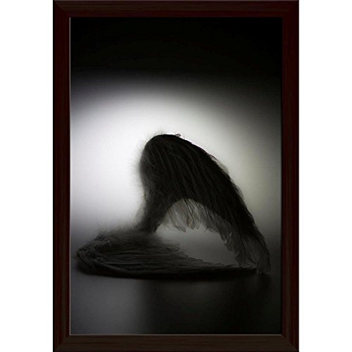 ArtzFolio Angels Wings Poster Dark Brown Frame with Glass 9.5 X 13.5Inch