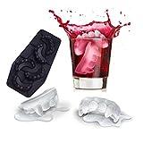 WINOMO Stampi per cubetti di ghiaccio Disegno di denti di vampiro Tema di Halloween Vassoio di cubetti di ghiaccio Creativo Candy Sugar Bar Cocktail di whisky Birra (Nero)
