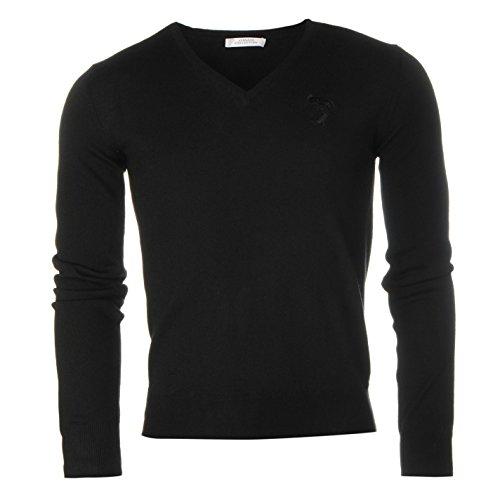 versace-collection-herren-v-ausschnitt-pullover-langarm-pulli-feinstrick-gestrickt-neu-schwarz-mediu