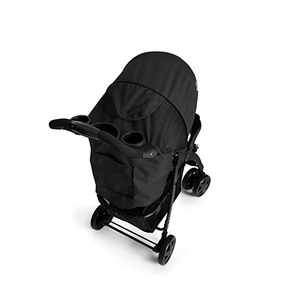 Hauck Shopper Neo II One Hand Fold 4 Wheel Pushchair with Raincover, Black, From Birth to 15 Kg Hauck Fold in seconds with one hand Comfortable seat with lying position and adjustable footrest Includes 2 practical bottle trays 8