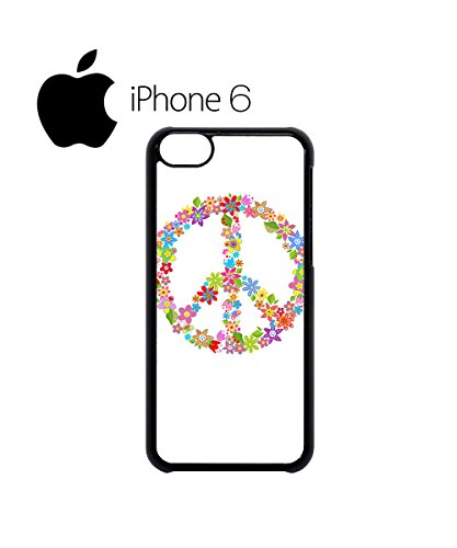 Peace Sign Flower Summer Swag Mobile Phone Case Back Cover Hülle Weiß Schwarz for iPhone 6 White Schwarz