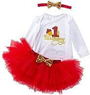 K-youth Vestidos Bebé Primer Cumpleaños Niñas Tutú Vestido de Princesa Vestidos de Fiestas para Niñas 3pcs Con
