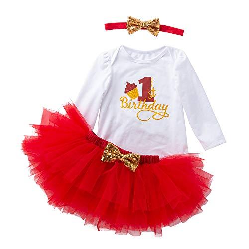 bestshope Kleinkind Neugeborenes Baby 1. Geburtstag Strampler + -