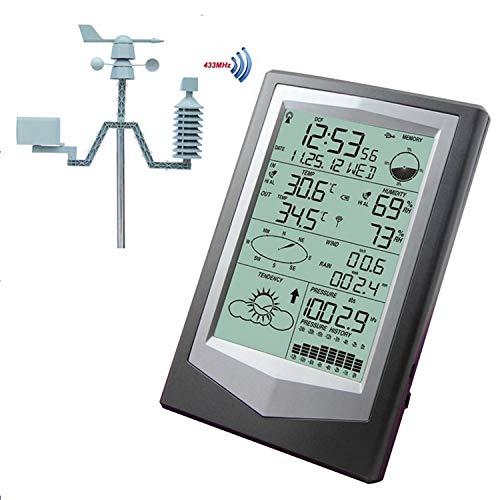 STHfficial Wetterstation Mit PC Link Haushaltsthermometer Hygrometer Luftdruck Wettervorhersage