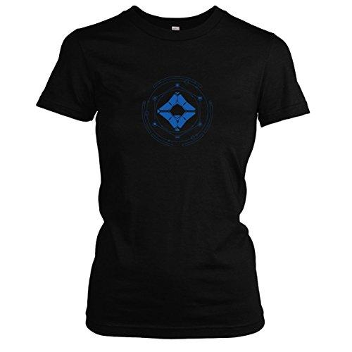 TEXLAB - Geist und Wächter - Damen T-Shirt, Größe L, (Destiny Titan Kostüm)