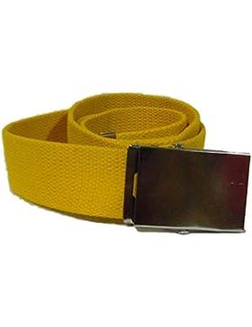 Cintura corda rf GIALLO tela serigrafia stampa accessori moda cinture