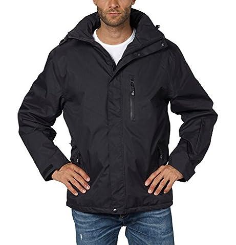3in1 Doppel-Jacke Freizeit-Jacken für Herren von Fifty Five - Alaska black S - mit wasserdichter FIVE-TEX- Membrane für Outdoor-Bekleidung