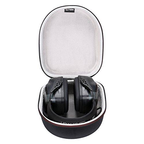 Elektronische Leight Howard Ohrenschützer (LTGEM EVA Hülle für Howard Leight von Honeywell R-01902 Impact Pro Klangverstärkung Elektronische Ohrenschützer mit Handschlaufe (schwarz))