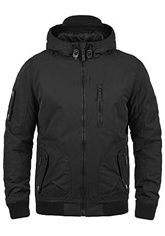 BLEND Marc Herren Winterjacke Bomber-Jacke mit Kapuze aus hochwertigem Material, Größe:S, Farbe:Black (70155)