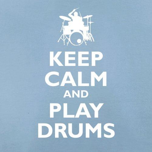 Keep Calm and Play Drums - Herren T-Shirt - 13 Farben Himmelblau