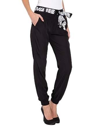Morgan - Pantalon - Relaxed - Femme - Noir - FR : 34 (Taille fabricant : 34)
