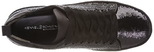 Kennel und Schmenger Schuhmanufaktur Hill, Sneaker Donna Schwarz (Black Bastsohle Schwarz)