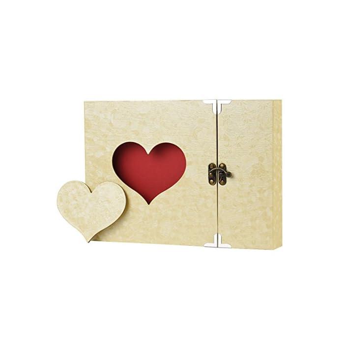Firbon Fotobuch Scrapbook Herzform Fotoalbum Sticker Tagebuch Geschenk für Hochzeit Feiertag