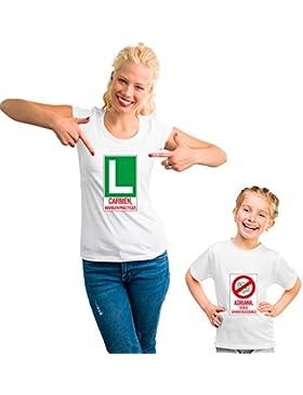 Pack Personalizado de Camiseta para Madre + Body o Camiseta para Hijo/a … (Pack 'Mamá novata')