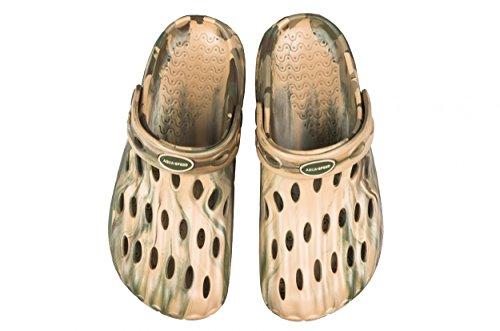 Aqua Speed ISLA II Badepantoletten Herren (Größen 39-46 Clogs Swimmingpool Fixierschlaufe Ventilationslöcher), Schuhgröße:41