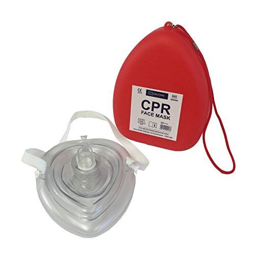 qualicare CPR Atemmaske zur Wiederbelebung, Erste-Hilfe-Atemmaske, wiederverwendbar