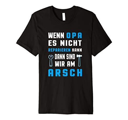 Opa T-Shirt Spruch Wenn Opa es nicht Reparieren.. Geschenk