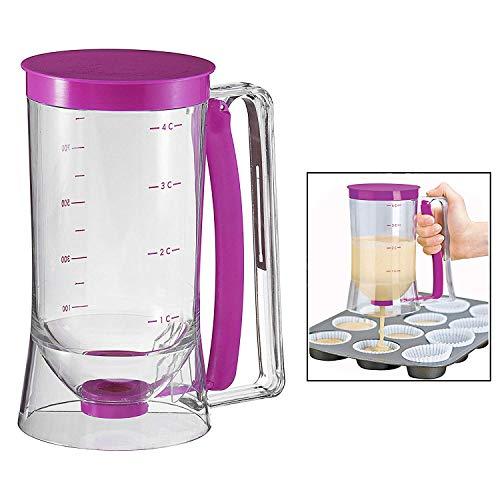 Gearmax® Pancake Batter Dispenser 4 Cups oder 900mL Kapazität Pfannkuchen Muffin-Gebäck Cupcakes Jug plastic Practical Teig Spender mit Messetiketten