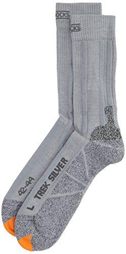 X-Socks Funktionssocken Trekking Silver Grey Melange, 42/44
