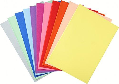 Exacompta 850000E Aktendeckel aus Recycling-Papier 60g /m² 250 Stück in 60 sortierten Farben