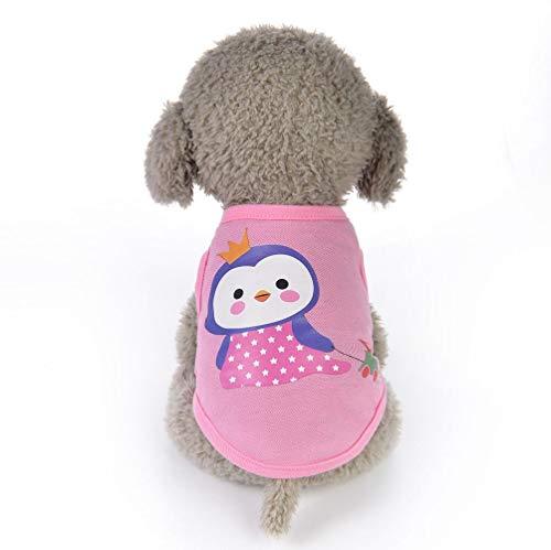 aumwollsommer-Tier-Karikatur-Weste, Hundewelpen-Normallack-KostüMe-Haustier-Kleidung Mit Speziellem Entwurfs-Leichten Materialien Keji-Hundet-Shirt ()