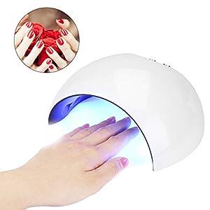 64W Lámpara Secador de Uñas Recargable, Luz de Uñas LED UV Almacenamiento de Energía con 32 Luz y Sensor Automático y 4…