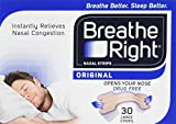 Breathe Right Congestion Relief Nasal Strips, Large, Original, 30 Strips