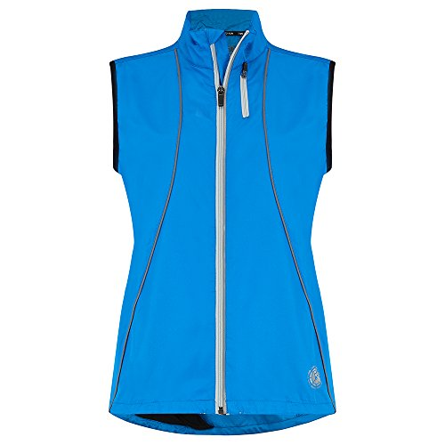 Mujer's Gilet chaqueta de Running y Ciclismo Zephyr de Time to Run 40 Calipso Azul