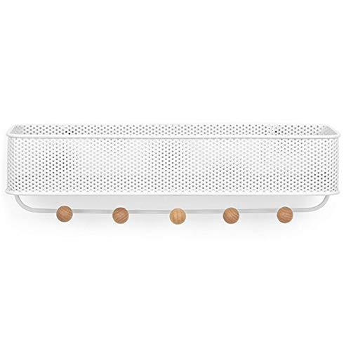 Wenyc mensola del bagno, creativo multifunzionale chiave di metallo gancio gancio di stoccaggio della lettera, adatto per soggiorno, porta a muro, camera da letto