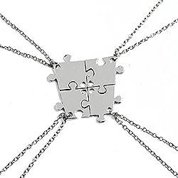 Collar de la amistad - 4 piezas de puzzle