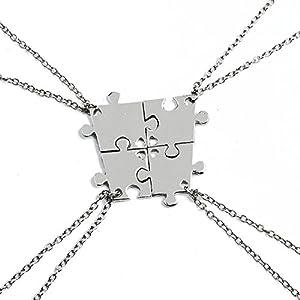 """Elegant Rose Sets von 4 Legierung Freundschaft Halsketten """"Best Friends Forever and Ever"""" mit Herz Muster Halskette kreatives Geschenk für Freunde Mädchen"""