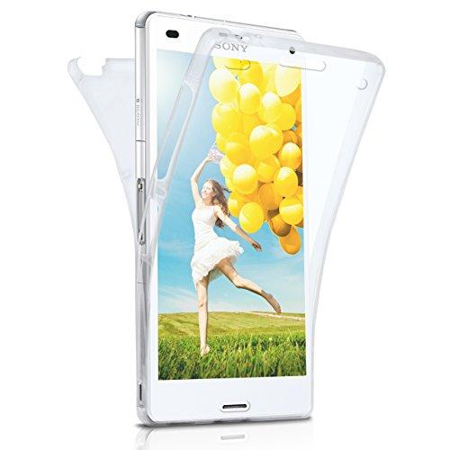 Caso doble para Sony Xperia Z3   Funda de silicona transparente cubre todo   Delgada 360° completa casos del smartphone OneFlow   Back Cover en Transparent