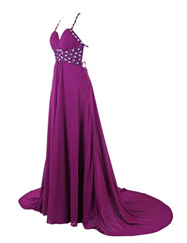 Dresstells, Robe de soirée de mariage/cérémonie/mère de mariée bretelles spaghetti forme empire traîne moyenne avec emperler sequins Noir